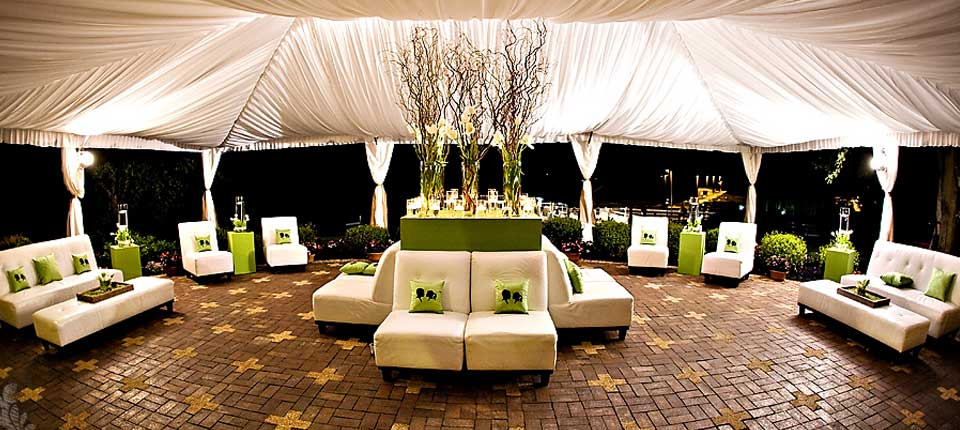 Patio Tent and lighting
