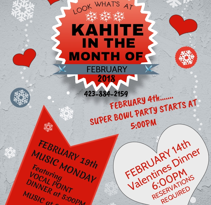 February Happenings at Kahite