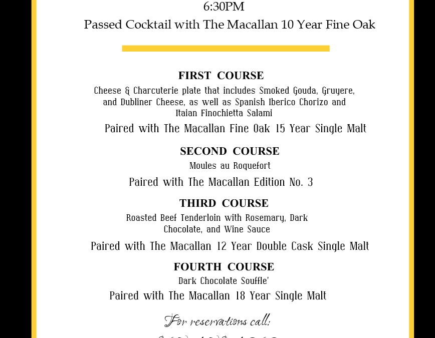Macallan Dinner