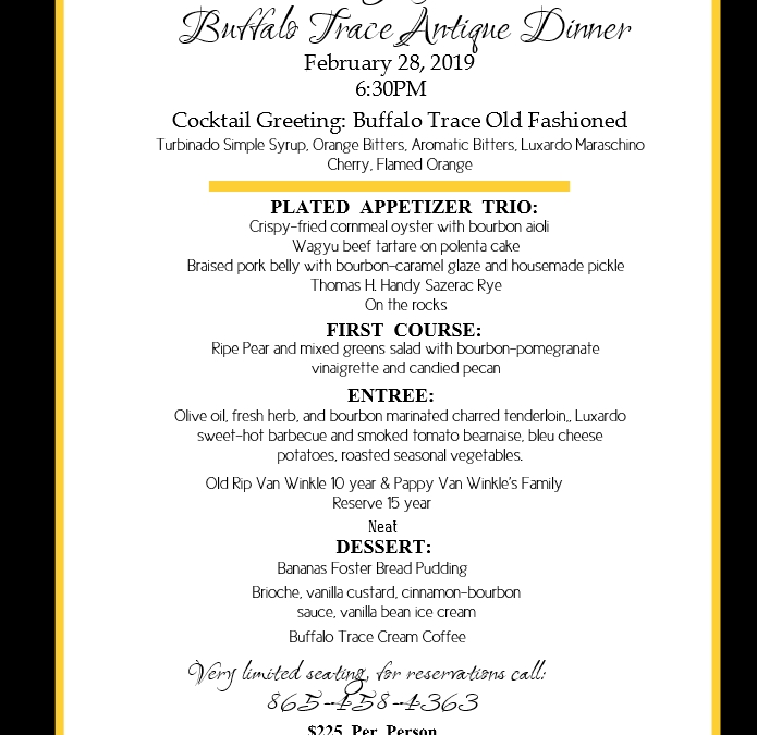 Buffalo Trace Antique Dinner